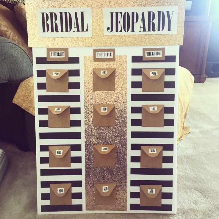 Bridal Jeopardy I created ;)