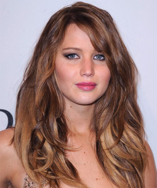 jennifer lawrence haircut | Jennifer Lawrence Hairstyle - Casual Long Straight - 15461 ...