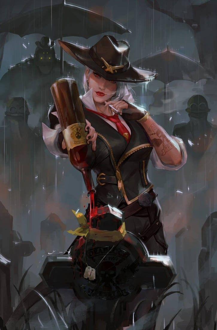Ashe (Overwatch)by gantzu Overwatch wallpapers