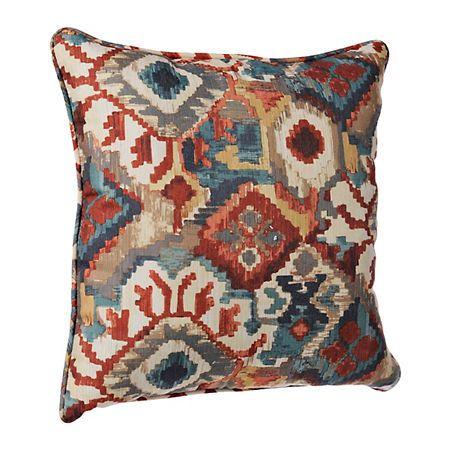 Wonderful Warm Abstract Aztec Pillow