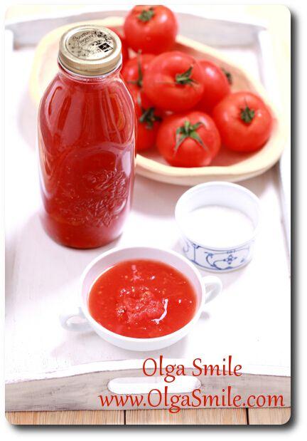 Passata czyli przecier pomidorowy - przepis | Kulinarne przepisy Olgi Smile