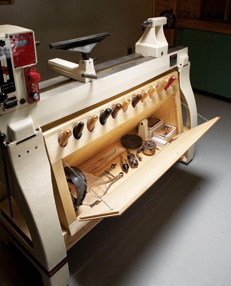 storage for tools  wood lathe