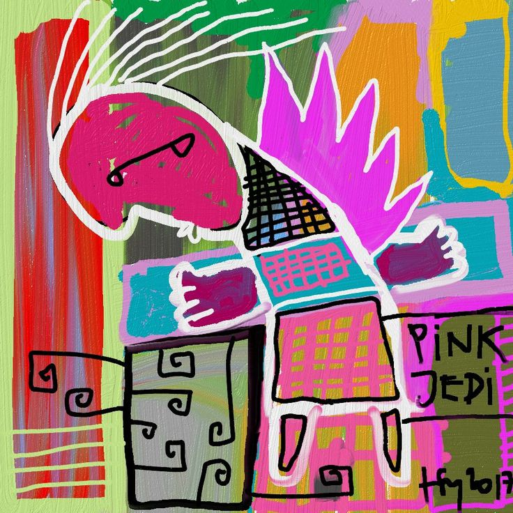 magentowy jedi master pink #art #painting
