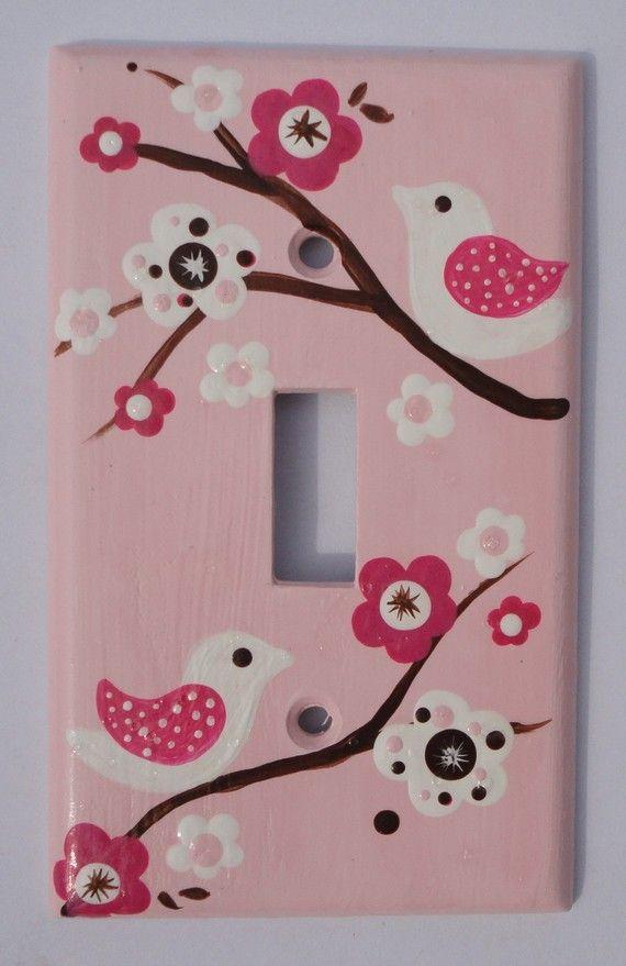 Light switch cover- Migi Blossom
