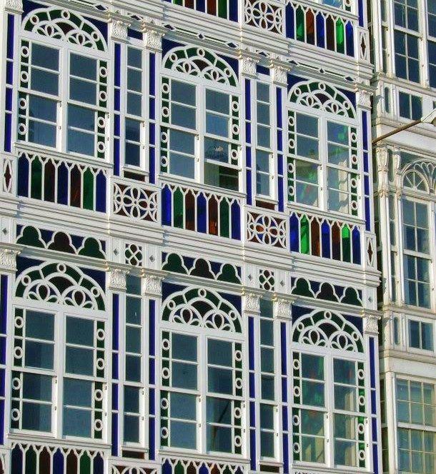 A Coruña, ciudad de cristal. Galicia, España. Spain