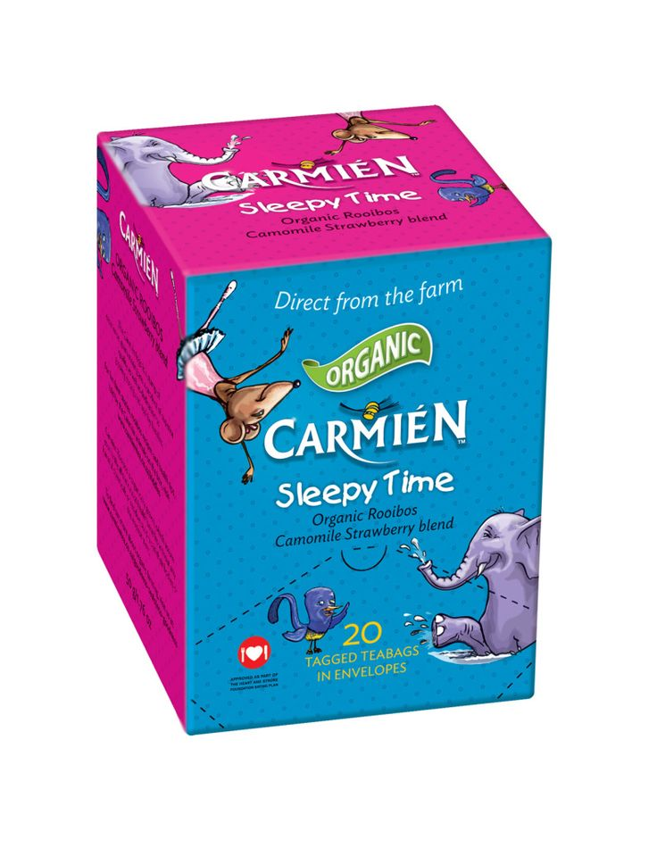 Sleepy Time Tea for Kiddies & Babies - Strawberry Camomile Rooibos