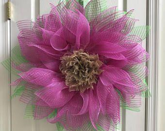 Guirnalda de la flor Deco malla