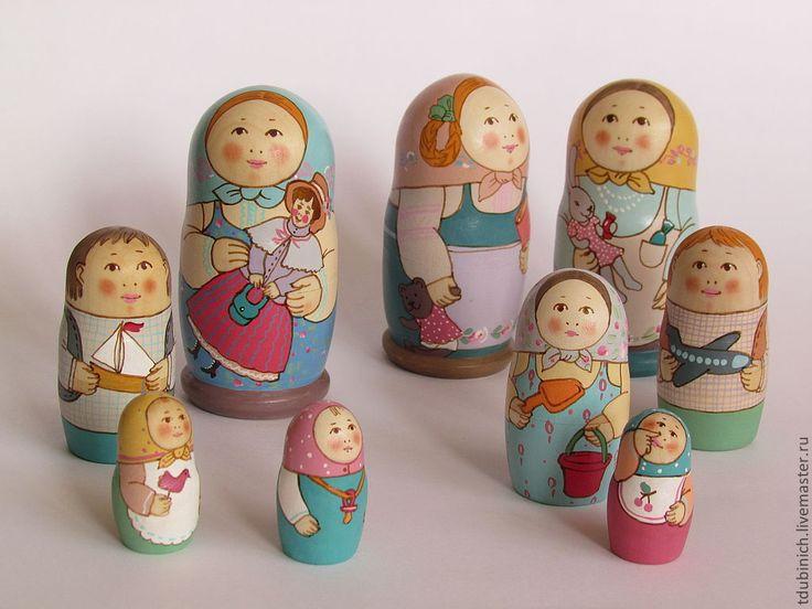 """Купить Матрешка """"Детский сад. Ира."""" - игрушка ручной работы, авторская работа"""