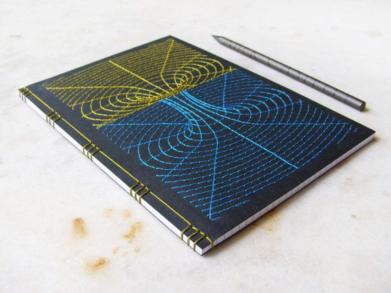 Black Hole Embroidered A5 Notebook