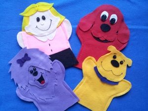 Big Red Dog hand Puppets