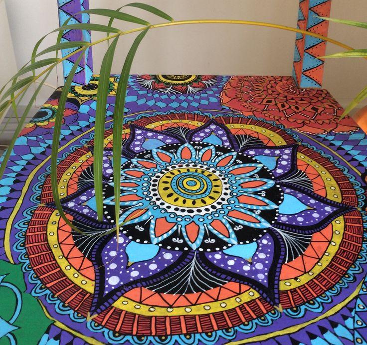 Mandala Upcycled Chair Art Projects Love Art Art