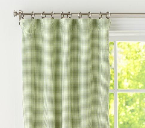 green gingham blackout curtains d baby pinterest. Black Bedroom Furniture Sets. Home Design Ideas