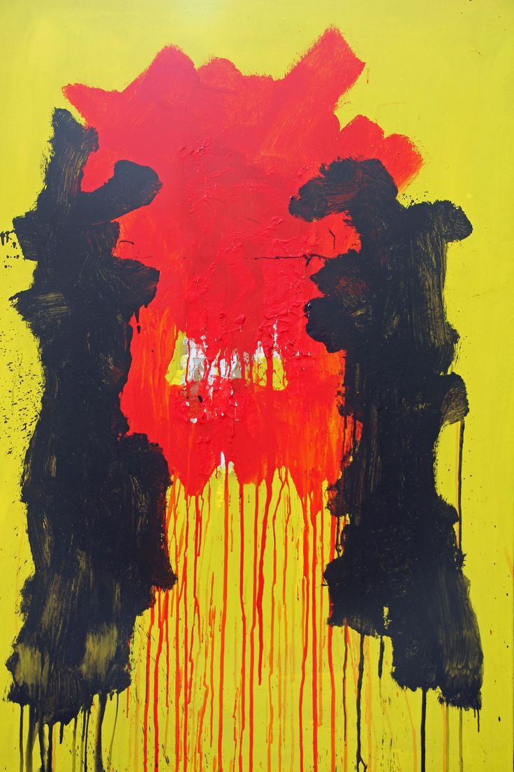 Furious Acrylic on paper on canvas 137x96 cm 12.2000 © Karino Amade