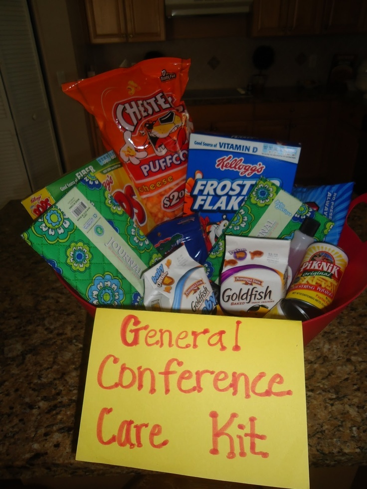 General Conference Care Kit, includes a journal for taking notes during Conference
