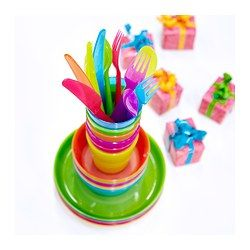 KALAS 18-piece cutlery set, assorted colours - assorted colours - IKEA - great for the kids!! Dishwasher 60' friendly..