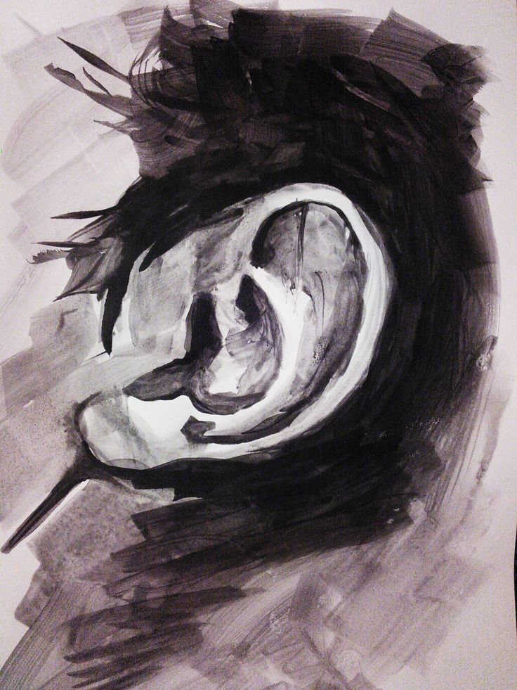 """Listen""  Ink on paper 23 x 34 cm April 2015"