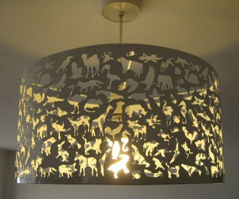 30 best lampshaded images on pinterest forests lampshades and the beasties lamp shade from habitat features acid etched animal shapes mozeypictures Image collections