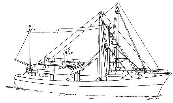 Commercial Fishing Boat Diagram