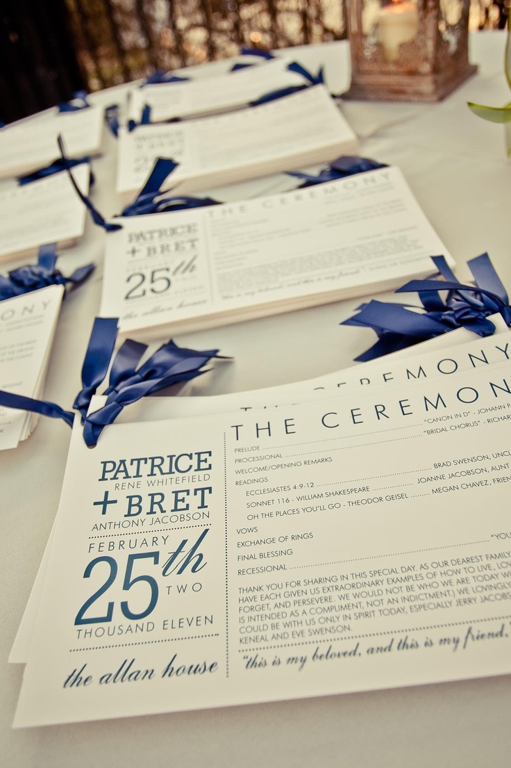You're Just My Type - Typography Wedding Program. $1.50, via Etsy.