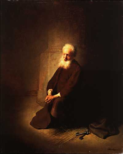 Rembrandt st. peter in prision - キアロスクーロ - Wikipedia