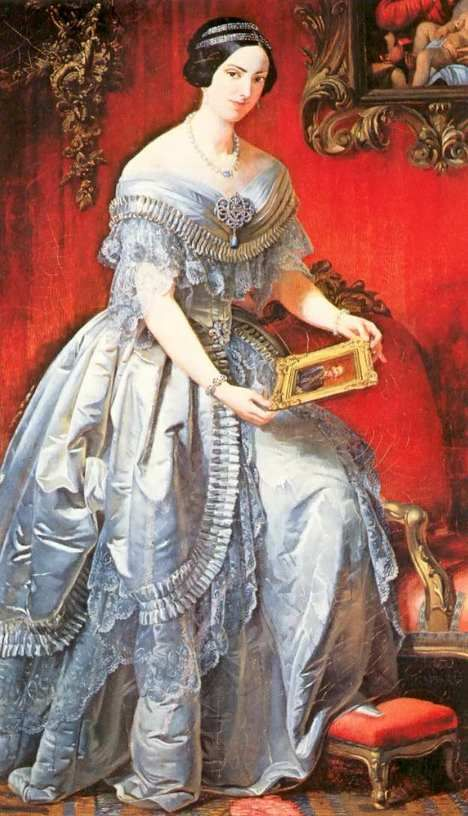 Adelaide of Austria, Queen of Sardinia, born to Rainer Joseph of Austria and his wife Elisabeth of Savoy, held the title of Archduchess of Austria, paternal great grandmother was Empress Maria Theresa, great aunt was Marie Antoinette. Her mother a member of the House of Savoy. Adelaide married 1st cousin, Victor Emmanuel of Savoy, who became king of Italy after her death.