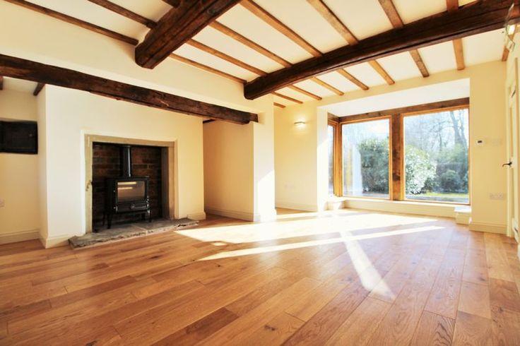 Marsh Lane, Longton - a lovely lounge with beautiful beams & traditional log burner