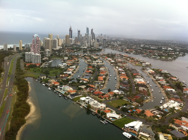 Gold Coast canals in the Surfers Paradise area