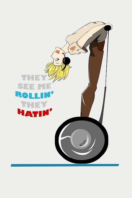 They see me Rollin they hatin - Pewdiepie :p