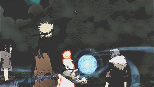 Naruto, Sasuke, Minato, Tobirama, Rasengan, gif