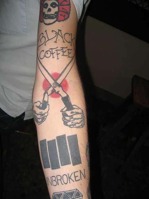 Black Flag inspired tats. #MyWar