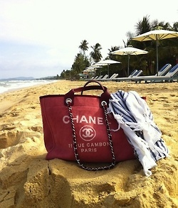 Chanel chic at the beach!