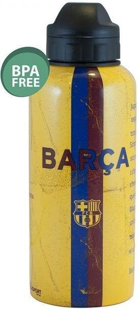 De FC Barcelona bidon is voor hun echte fans! Laat iedereen zien dat jij fan bent van FC Barcelona! Op de bidon staat het logo van de club weergegeven. Geschikt voor 400 ml.   Afmeting: volgt later.. - Bidon barcelona geel aluminium stripe: 400 ml