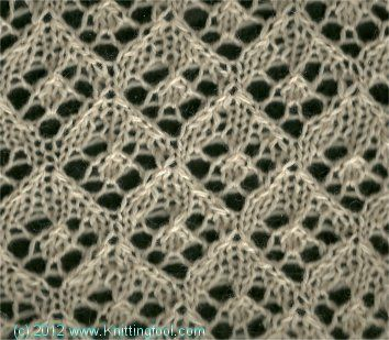 Another gorgeous lace stitch from www.knittingfool.com