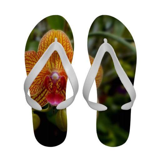 Orange Orchid Sandals