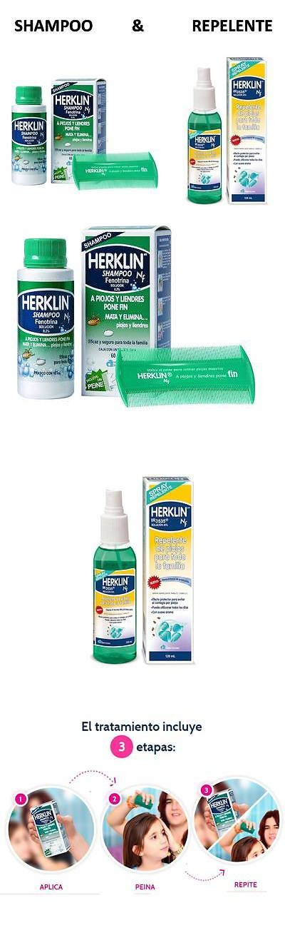Medicated Hair Treatments: Herklin Shampoo Mata Piojos Repelente/Liendres Kills Lice Eggs Fast Action 4Oz BUY IT NOW ONLY: $37.95