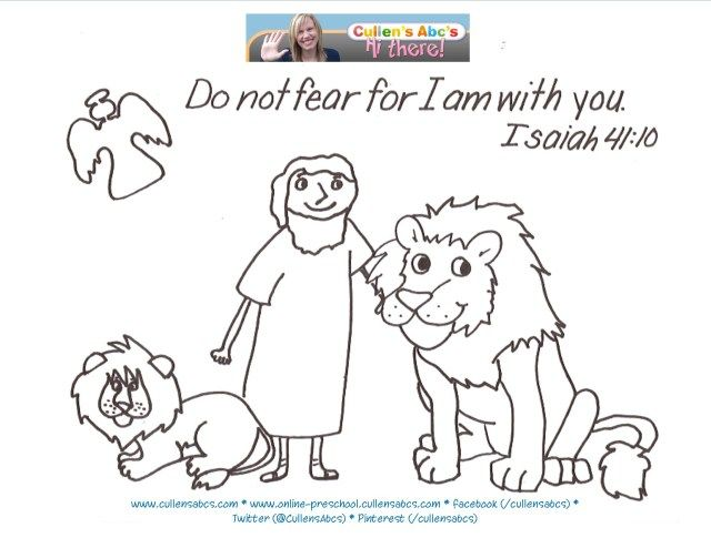 25 Awesome Picture Of Daniel And The Lions Den Coloring Page