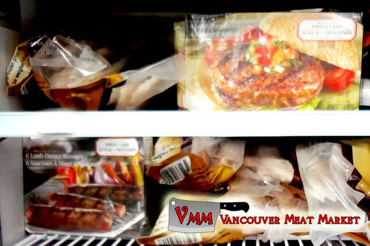New Zealand spring lamb burgers and sausages at Vancouver Meat Market