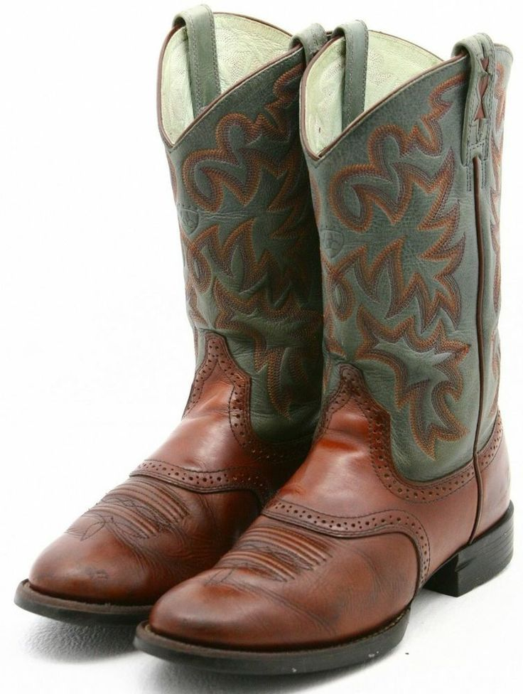 Ariat COBALT XR PRO womens cowboy boots size 6 blue brown leather ...