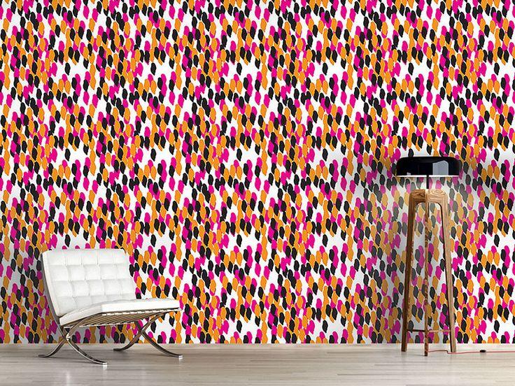 Design #Tapete Abstrakte Tupfen