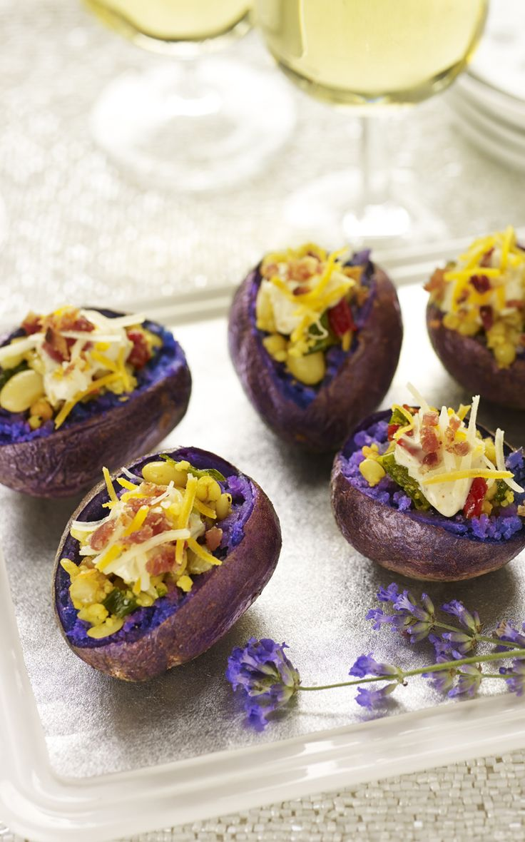 Mini Baked Purple Potatoes