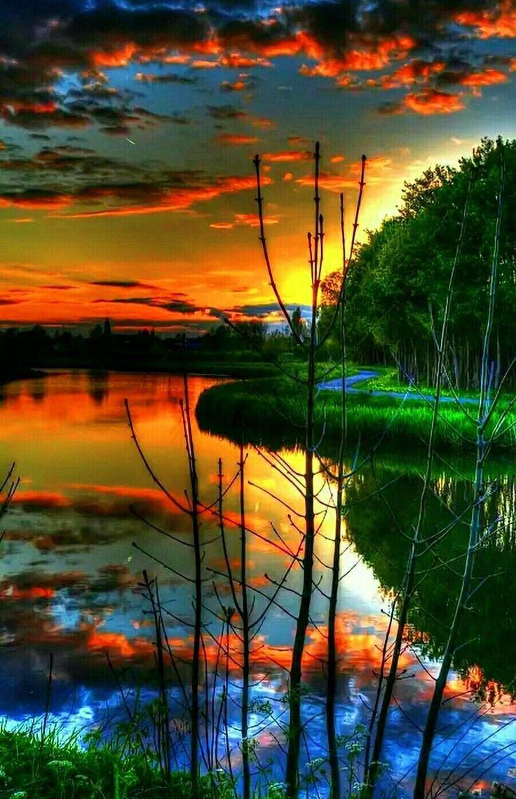 Lake Sunset Stunning Lake Sunset Beautiful Landscapes Nature Photography Landscape Photography