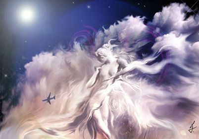 Sylph is a mythological creature or sky spirit.  invisible beings  elementals of air.