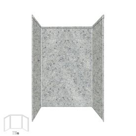 Transolid Decor Matrix Dusk/Stone Shower Wall Surround Side And Back P