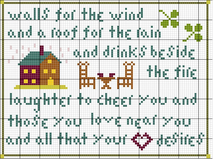 Irish Blessing, a free pattern  Design by Tanya Marie Willis Anderson