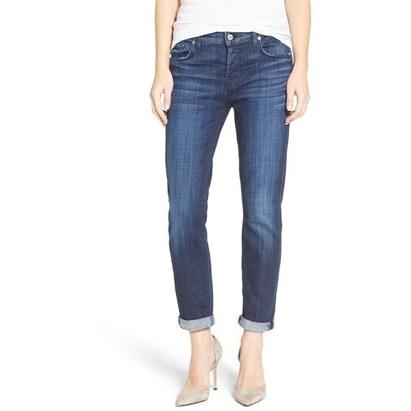 Women's 7 For All Mankind 'Josefina' Boyfriend Jeans ($189) ❤ liked on Polyvore featuring jeans, bordeaux broken twill, relaxed fit boyfriend jeans, low-rise boyfriend jeans, 7 for all mankind, low jeans and boyfriend fit jeans