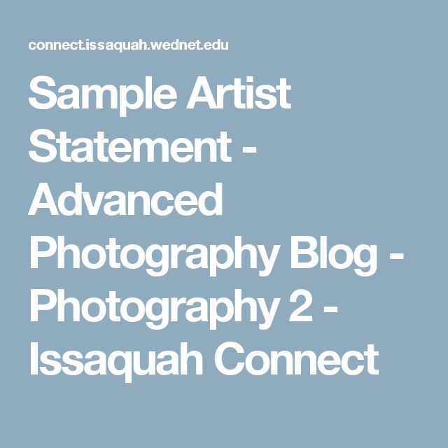 65 best Fine Art images on Pinterest Business ideas, Camera and - sample artist statement
