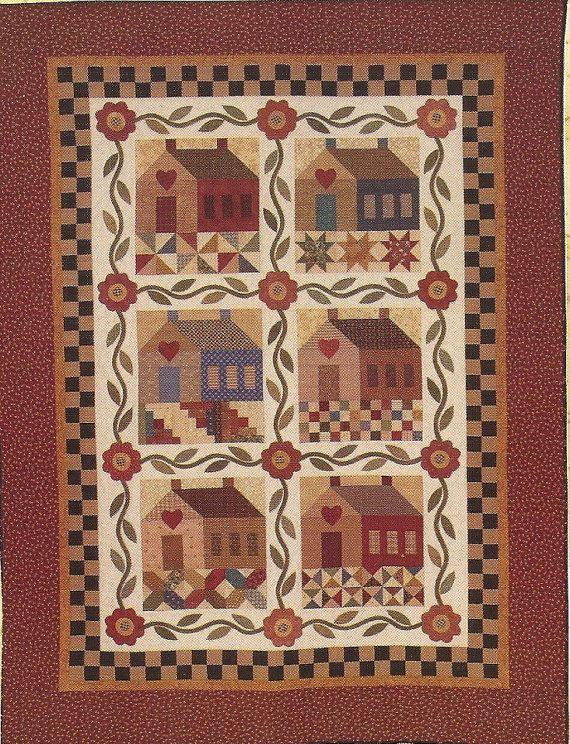 Primitive Folk Art Quilt Pattern  PATCHWORK by PrimFolkArtShop, $12.00