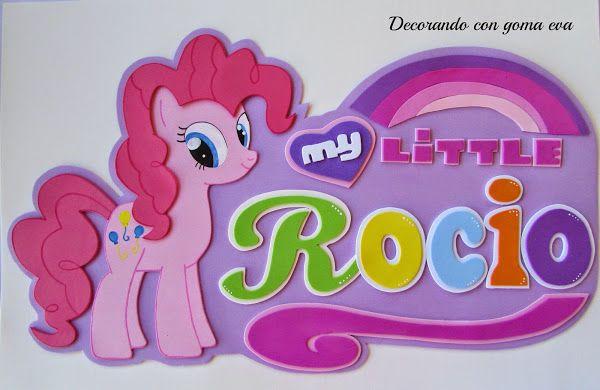 Cartel grande personalizado My Little Pony | Aprender manualidades es facilisimo.com