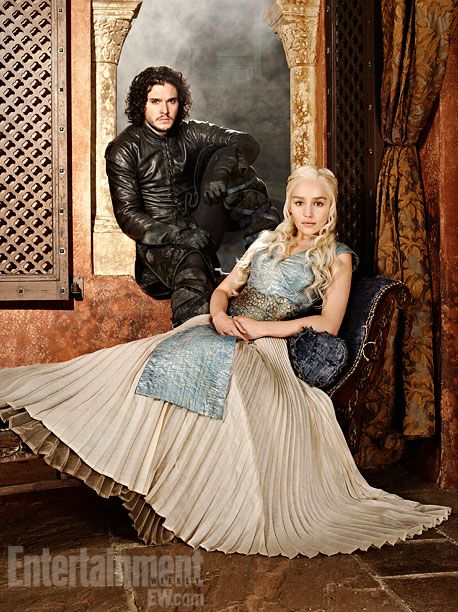 Emilia Clarke, Kit Harrington - Jon & Dani Two of my favorites in Games of Thrones. All I need is Tyrion ;)
