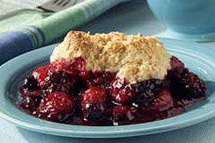 Mixed Berry Cobbler recipe - This was a very simple recipe to make with very basic ingredients. It was not as sweet as I expected, but it was still very good. I mixed up additional topping in order ...read more